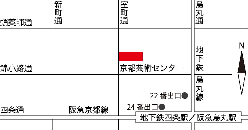 京都芸術センター地図